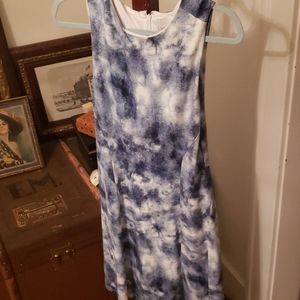 Blue and White Lysse Dress Sz Small